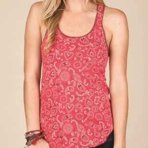 Women's Printed Meegs Eco-Jersey Racer Tank Thumbnail
