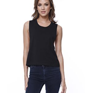 Ladies' Cotton Muscle Crop T-Shirt Thumbnail